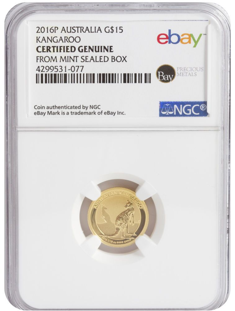 NGC Certified from Perth Mint Sealed Box 4 2016 1oz Silver Kangaroo