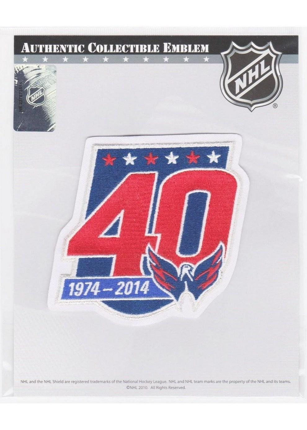 best website f2ca3 98ba5 NHL - Washington Capitals 40th Anniversary Logo Patch ...