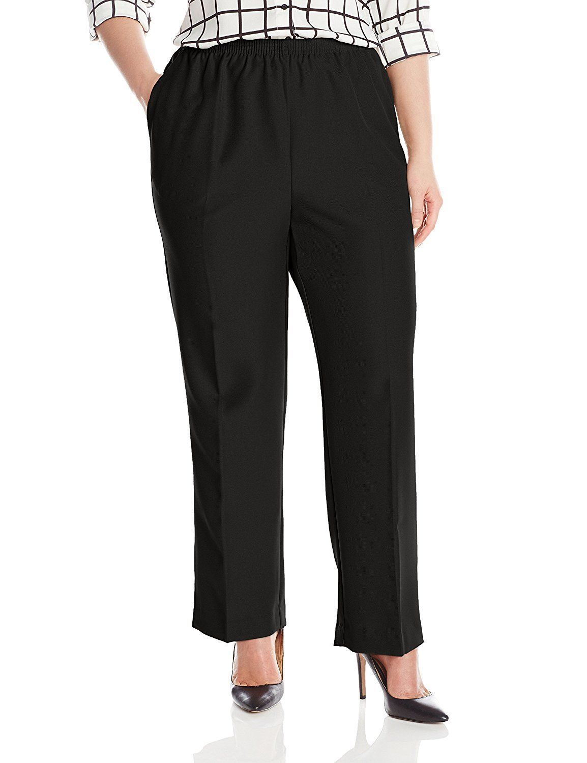 Alfred Dunner Womens Plus-Size Poly Proportioned Medium Pant