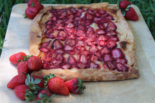 Strawberry Semolina Tart Inspired by 'Emma' by Jane Austen dessert