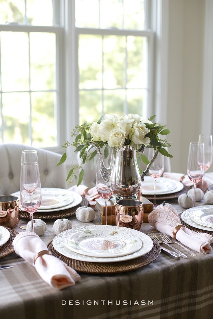 how to style a soft and neutral fall table setting tablescapes rh pinterest ca