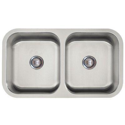 Lenova Permaclean 33 X 19 Double Basin Undermount Kitchen Sink