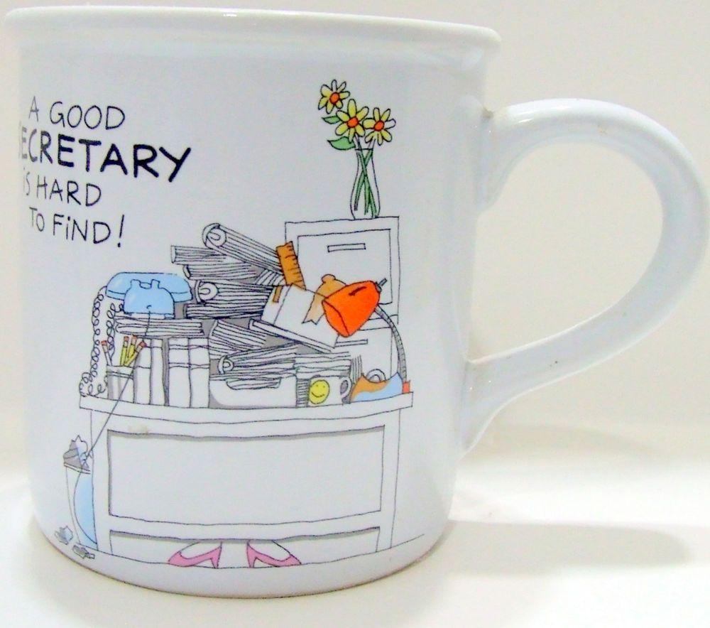 Good Secretary Mug Vintage American Greetings Coffee Cup Cartoon