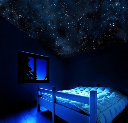 Night Glow Stars For Bedroom Ceiling Glow In The Dark Star Ceiling Poster Bed Canopy On Picsity Chic Bedroom Ideas Space Themed Room Home Home Decor