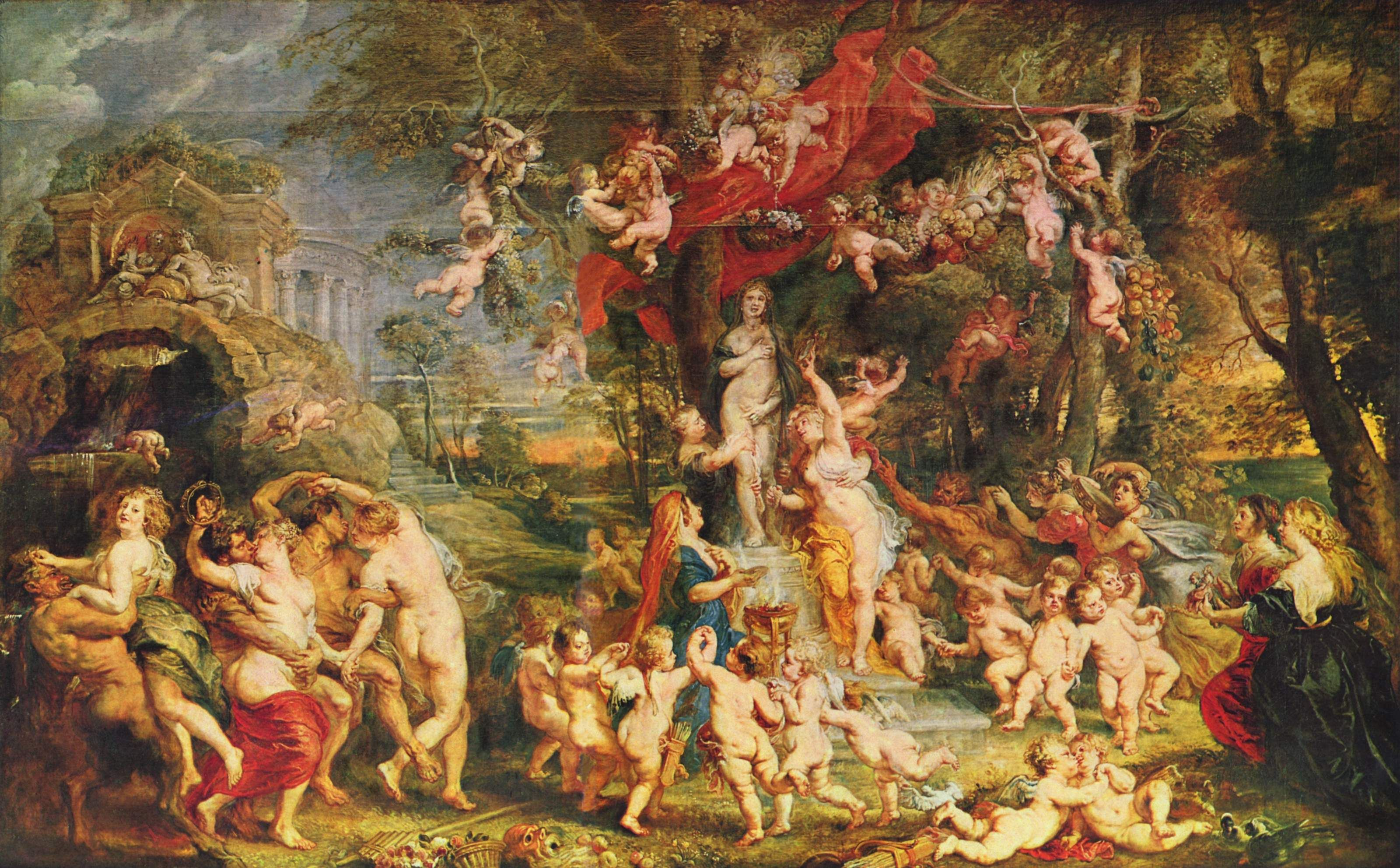 Rubens Venus And Cupid Large Canvas Art Print