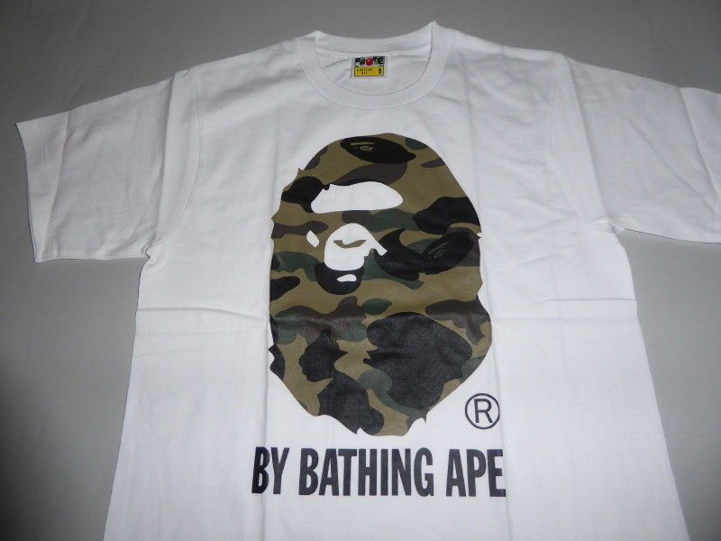 5db02bca 14191 bape 1st camo by bathing white/green tee XXL #fashion #clothing #shoes  #accessories #mensclothing #shirts (ebay link)