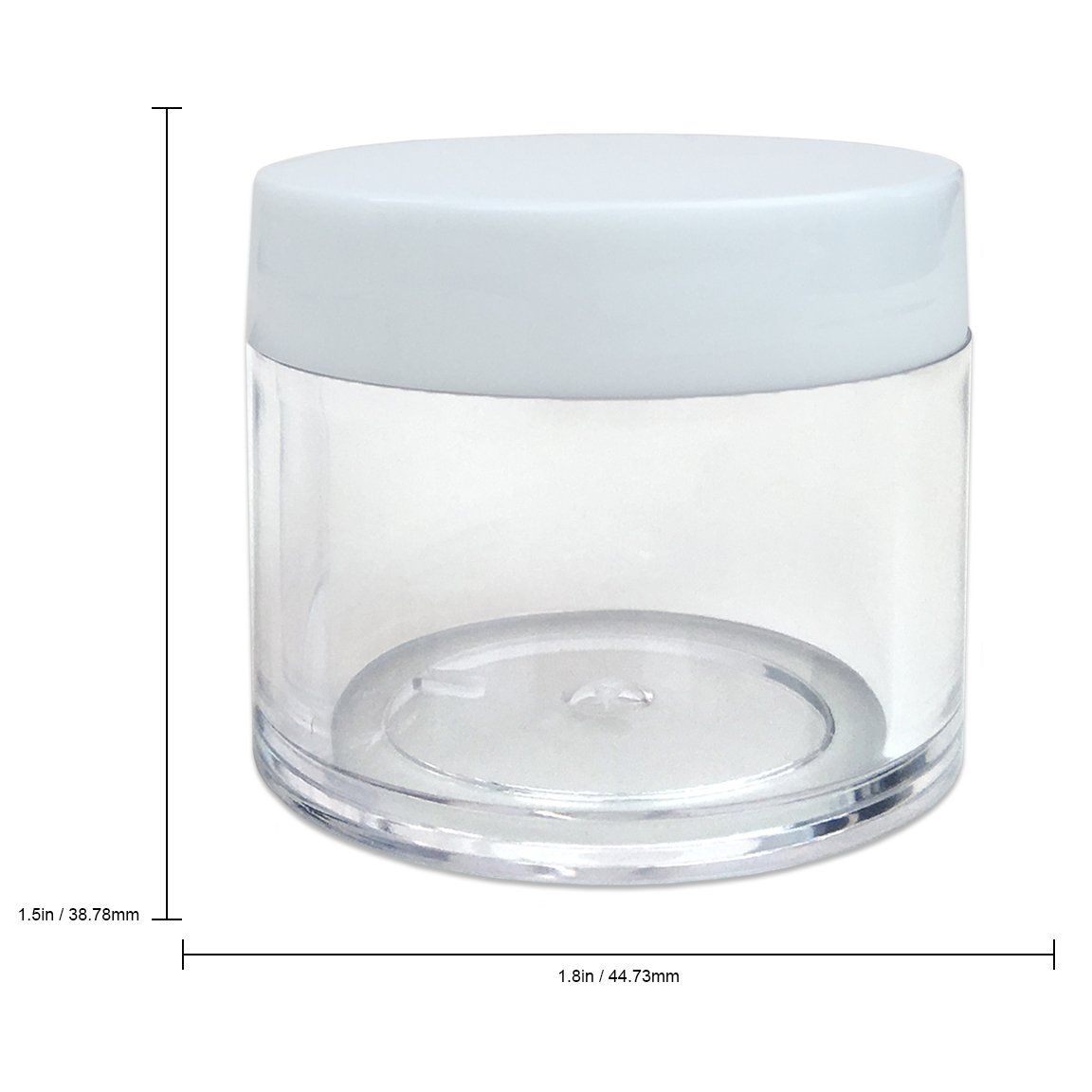 Beauticom High Quality 30g 30ml 1 Oz Round Clear Jars With White Lids For Cosmetics Medication Lab And Field Research Clear Acrylic Clear Jars Travel Container