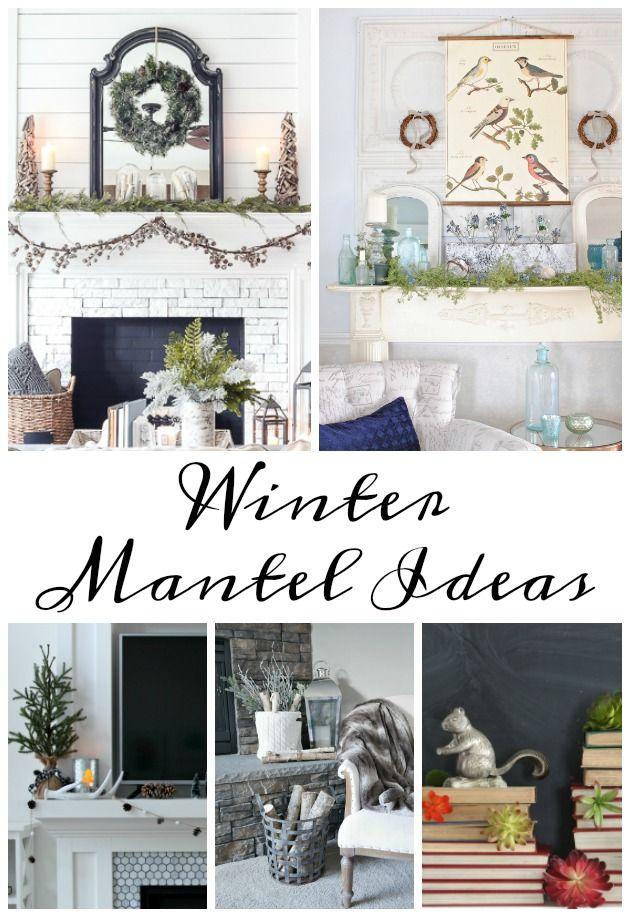Vintage Winter Mantel Winter Home Decor Home Decor Affordable
