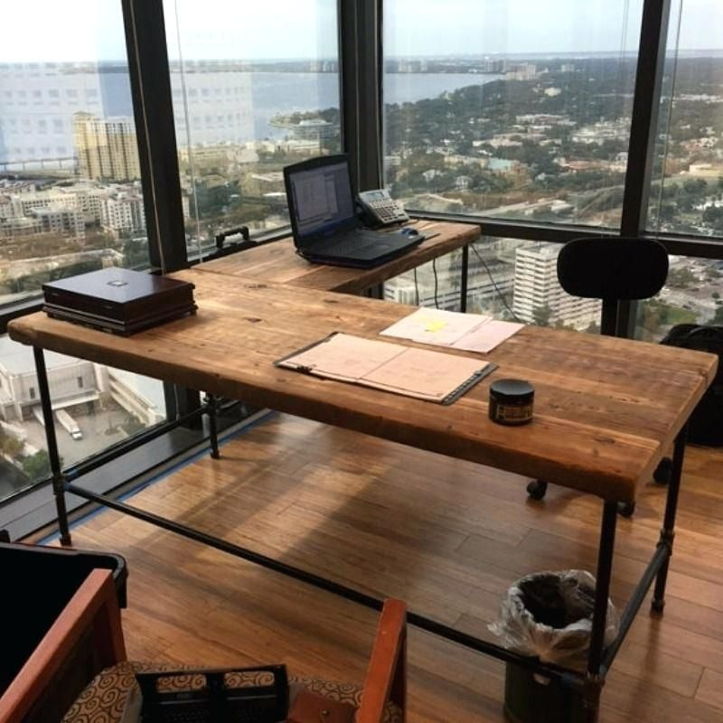 Industrial L Shaped Desk View In Gallery Reclaimed Wood L Shaped Desk Luxury Offices Beautifully Reclai Diy Office Desk Rustic Home Offices Office Desk Designs