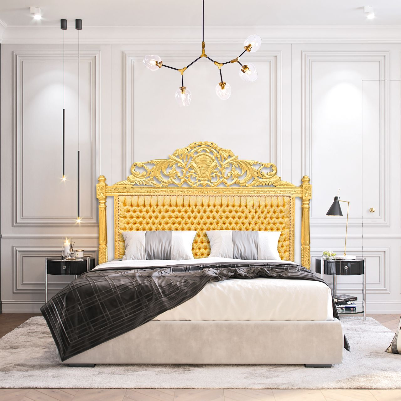 Baroque Headboard Gold Satine Fabric And Gold Wood Headboards For Beds Gold Wood Baroque Bed