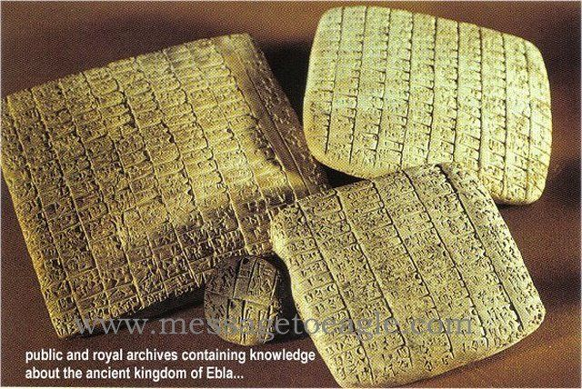 Ancient tablets from the royal palace of Ebla, Syria