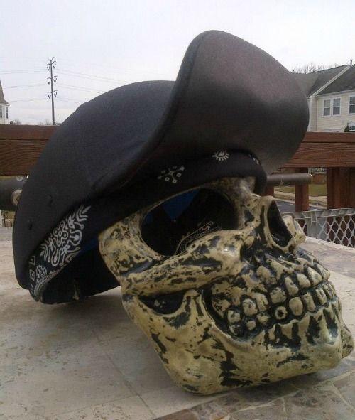 baseball hat style motorcycle helmet cap under devil tail customs custom artist