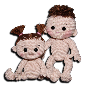 Crochet Free Pattern Amigurumi Baby Doll Stuffed Toy Haken