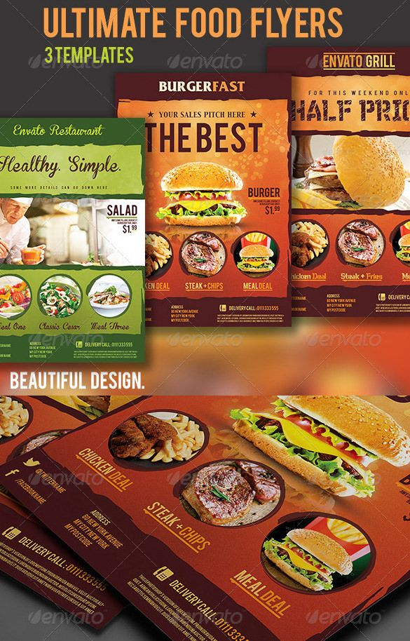 Restaurant Flyer Template - 56+ Free Word, PDF, PSD, EPS, InDesign ...