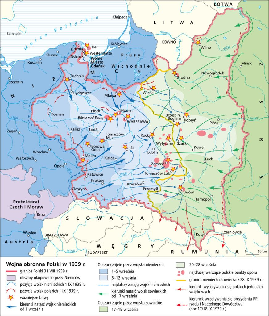 Wojna Obronna Polski W 1939r Mapy Poland History Historical