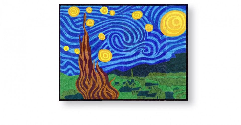 29++ Starry night coloring page pdf ideas in 2021