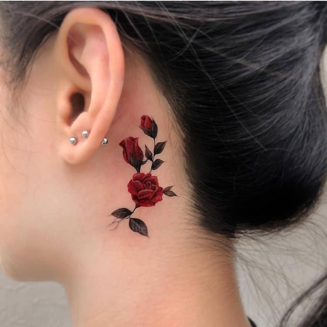 Beautiful Red Rose Tattoo For Girls Smalltattoos Minitattoos Minimaltattoos Tattoo Tatouage Tatuaje Image Dimensions 1080 X 1080 Tiny Tattoos For Women Small Tattoos Different Tattoos