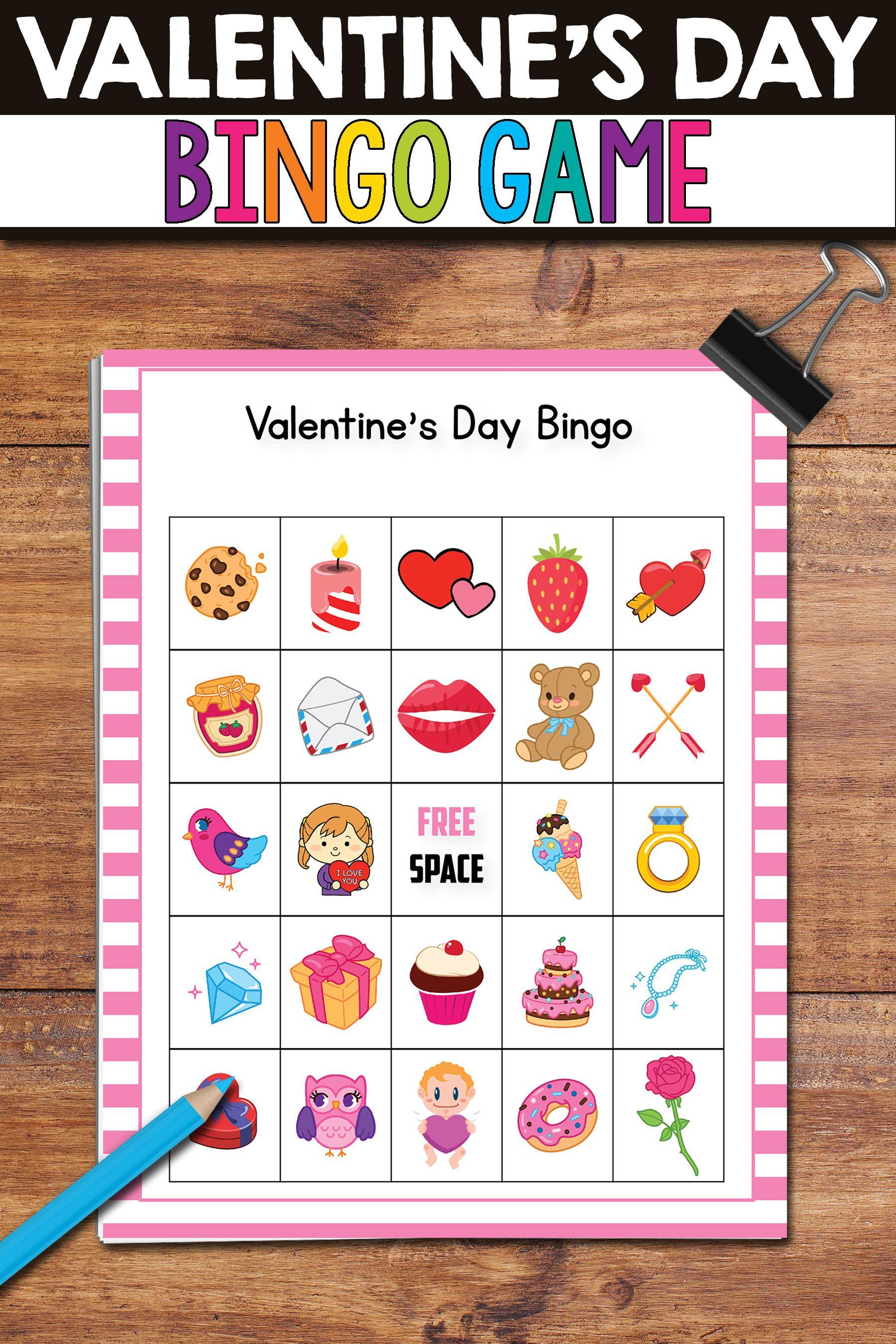 Valentines Day Bingo Game Valentines Day Activities