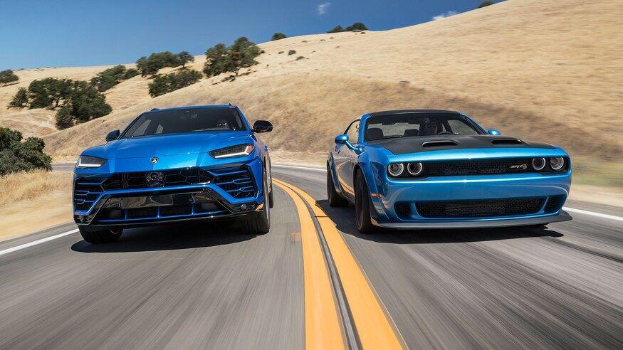 Super Suv Vs Muscle Car Lamborghini Urus Vs Dodge Challenger