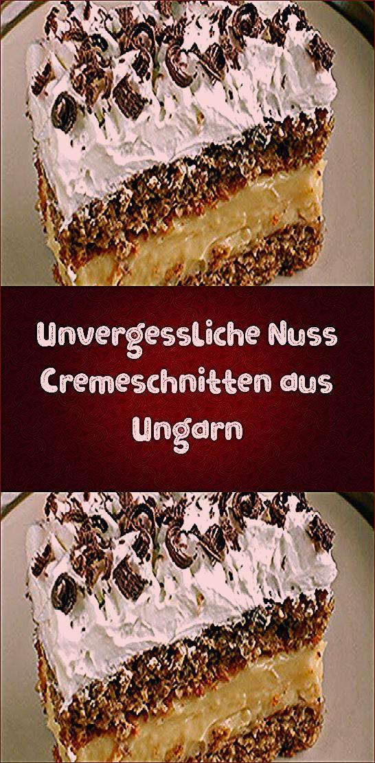 Photo of Unvergessliche Nuss Cremeschnitten aus Ungarn