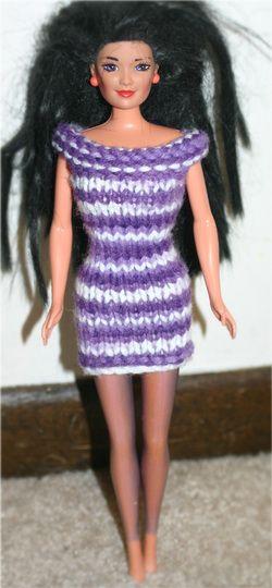 72f550eca3d Free Knitting Pattern  Barbie Dress using Worsted Weight Yarn ...