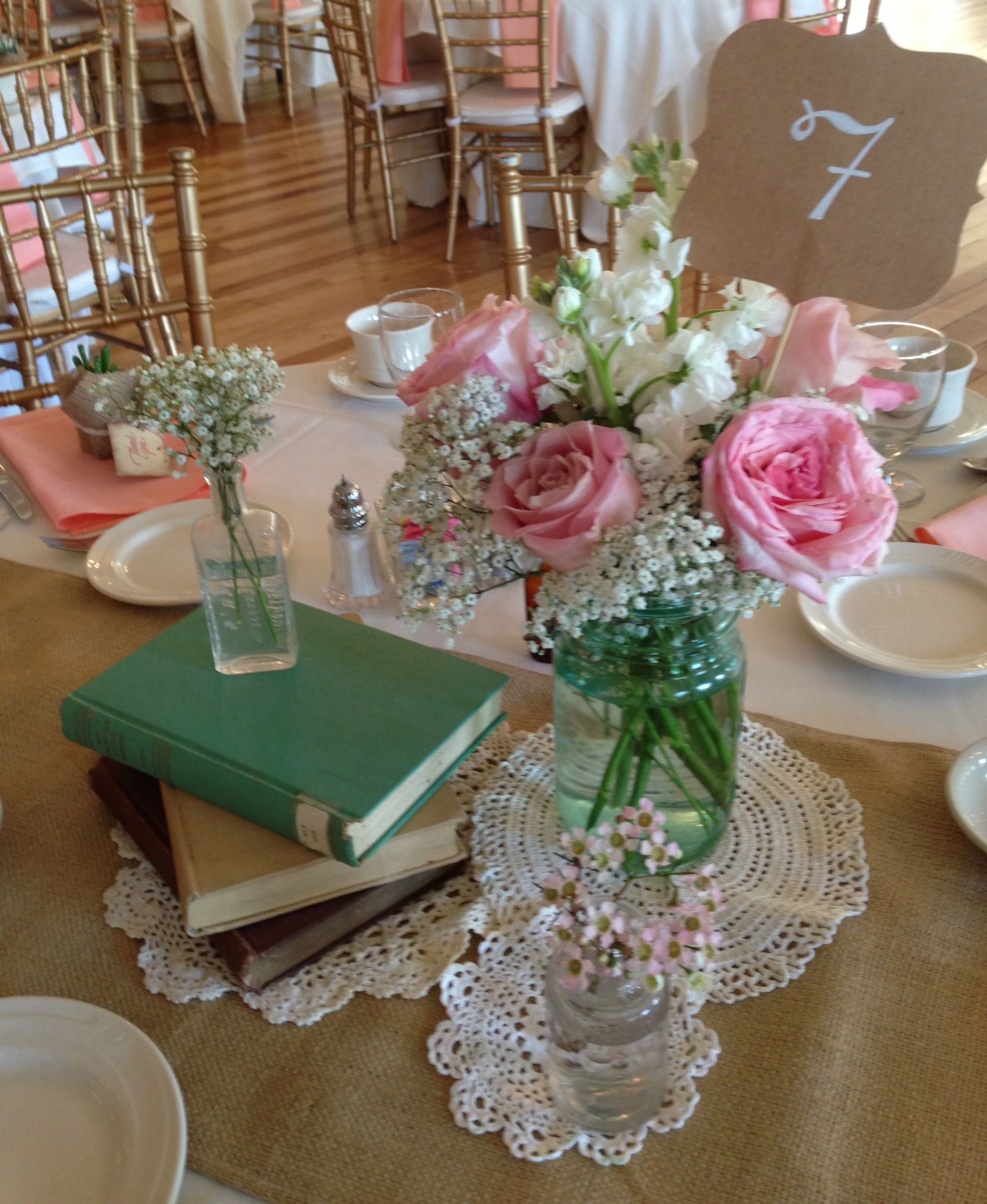 Vintage Wedding Centerpiece Settles Hill 2013 Flowers By Blooms For