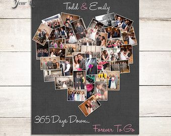 1st Anniversary Anniversary Photo Collage Anniversary Gift For Boyfriend Anniversary Gift For Girlfriend First Anniversary Mothers Day First Anniversary Gifts Boyfriend Anniversary Gifts Anniversary Gifts For Husband