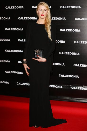 Ireland Baldwin stunned at the Calzedonia show in Italy.