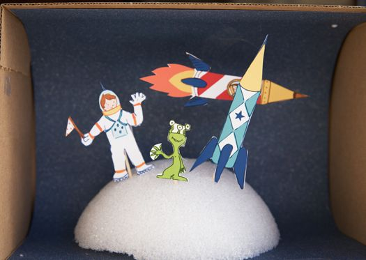 Diorama.  Need to do this with @Rachel Pants