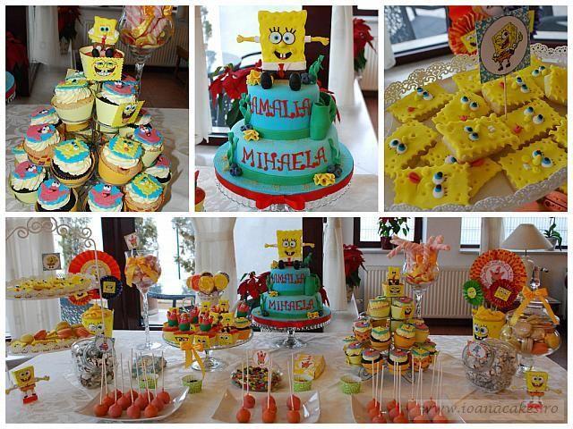 spongebob candy bar homemade delights brasov dessert table rh pinterest com