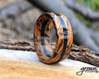 This Handmade Wood Ring Is Made Of White Oak From A Reclaimed Jack Daniels Whiskey Barrel