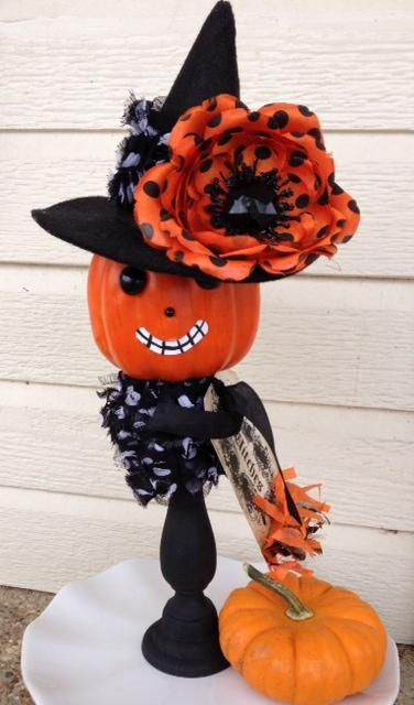 Halloween Decoration Witch Jack o Lantern Halloween Ornament - halloween decorations witch