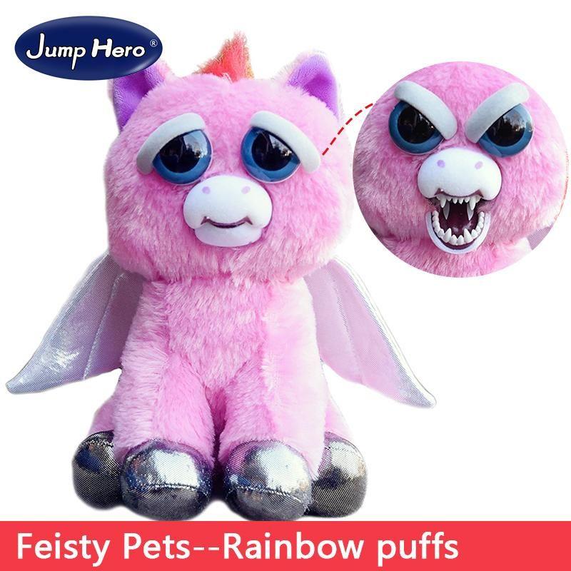 Feisty Pets Plush Dolls Toys Change Face Facebook Hot Sales Funny Animal Expression Stuffed For Kids Cute Prank Gift Monkey Plush Baby Plush Toys Animal Dolls
