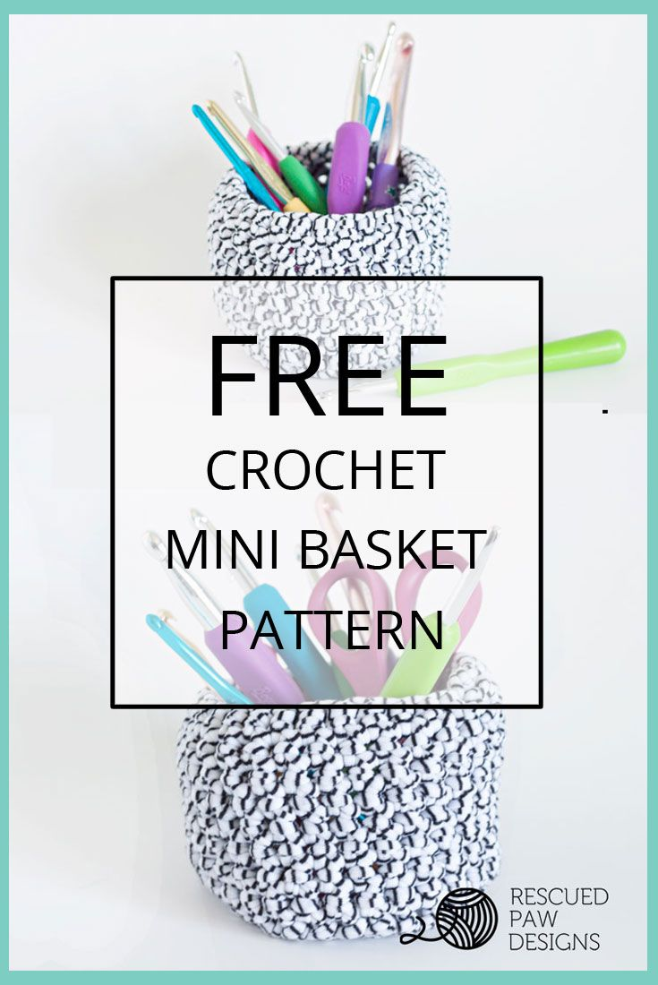Mini Basket Crochet Pattern | Crochet and knits | Pinterest | Ideas ...