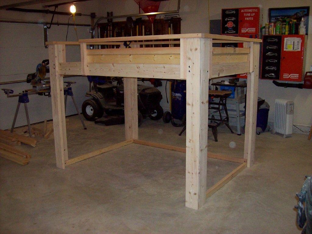 25 Diy Bunk Beds With Plans: Torres Tidbits: DIY: Full Size Loft Bed
