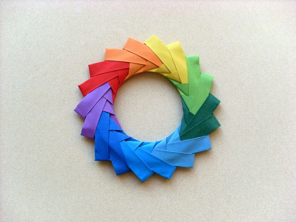 Origami color wheel color wheels origami and wheels what is your favorite color jeuxipadfo Image collections