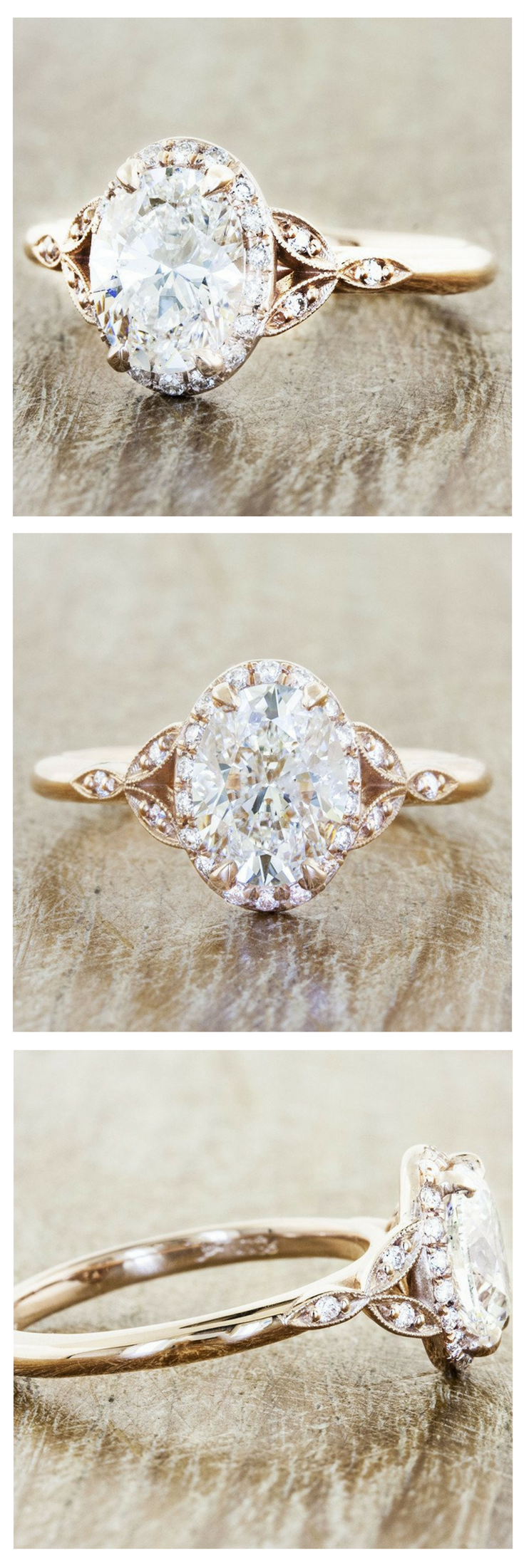 The rachael is a custom engagement ring crafted with a brilliant