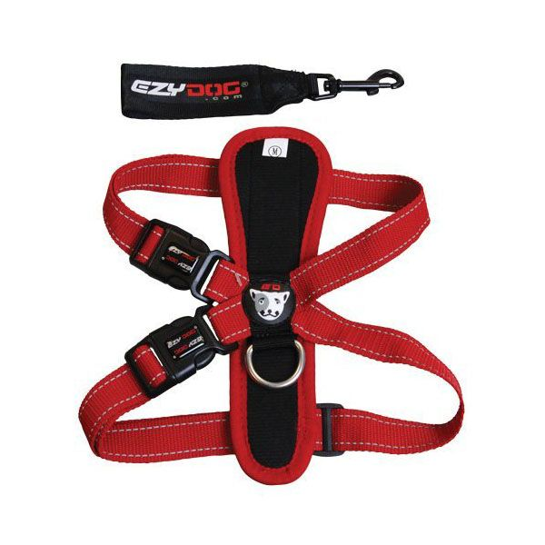 Ezydog Chest Plate Dog Harness Red Dog Harness Dogs Pet Paws