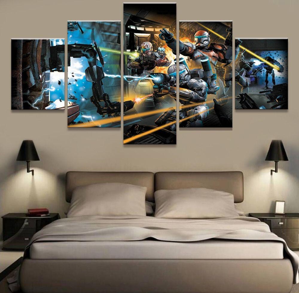 piece canvas art picture star wars movie modern decorative
