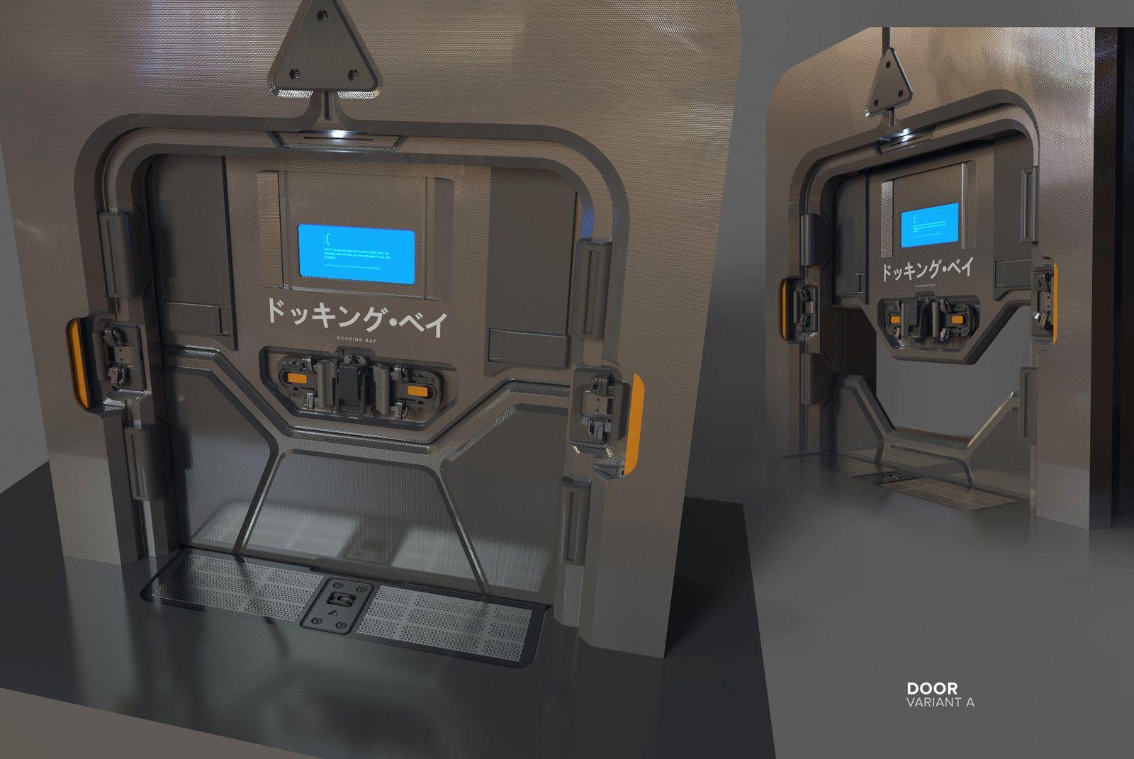 Door Concept For Lawbreakers Oberfett Kirill Chepizhko On Artstation At Https Www Artstation Com Artwork A2165 With Images Spaceship Interior Sci Fi Environment