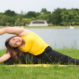 yoga for obese people  gym workout for beginners curvy