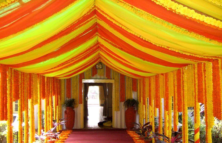 yellow tent decor for wedding | yellow, pastel yellow, mustard