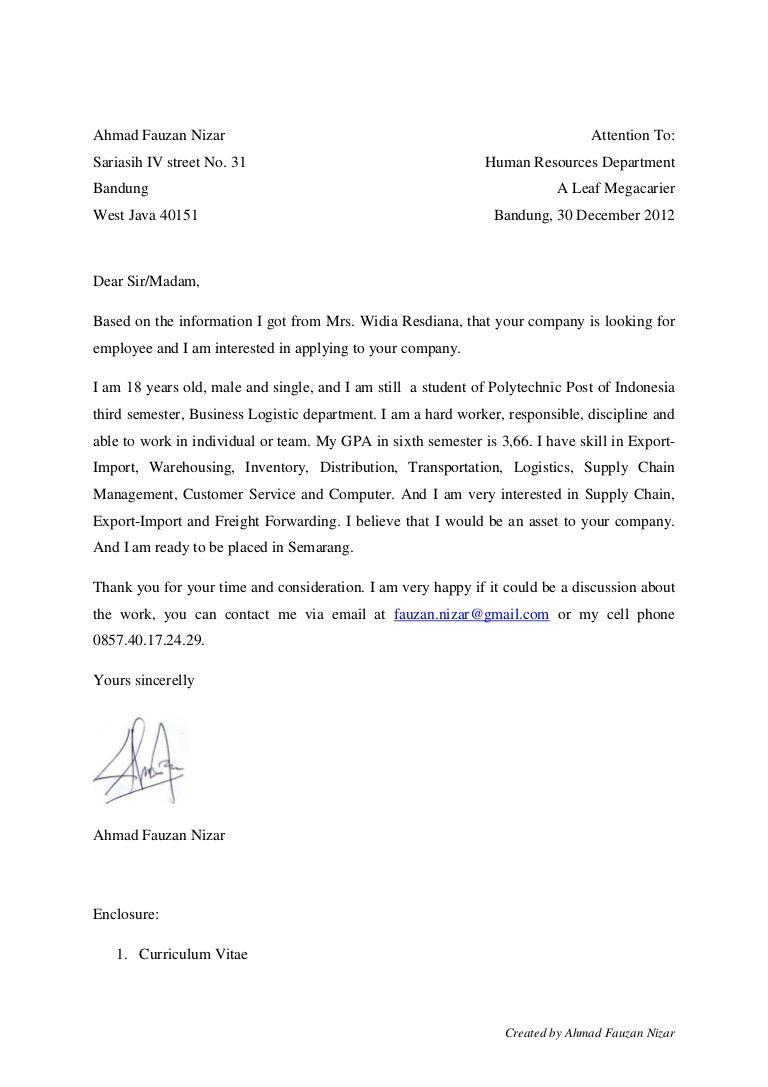 Contoh Cover Letter Fresh Graduate Bahasa Inggris : contoh, cover, letter, fresh, graduate, bahasa, inggris, Application, Letter, Fresh, Graduate, Kotimamma