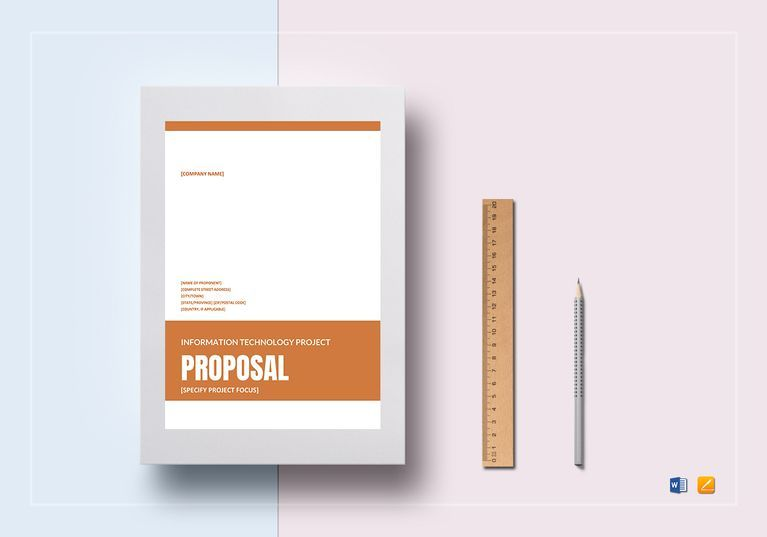Project Proposal Template Word It Project Proposal Template  Project Proposal Proposal Templates .