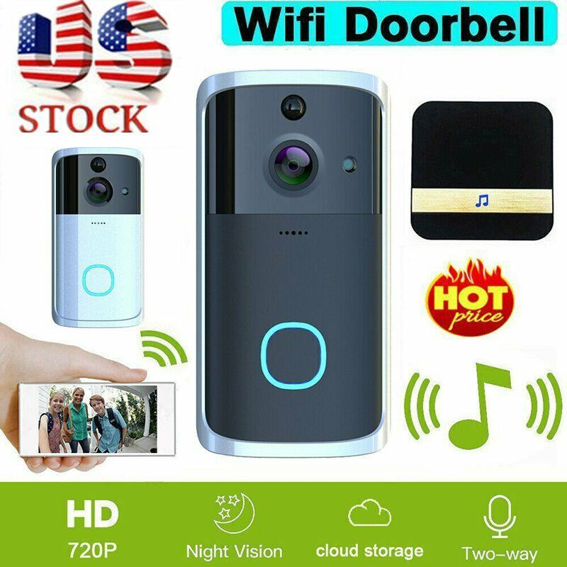 WIFI Wireless Video Intercom Doorbell  Smart  Security Camera 720P HD  for Home