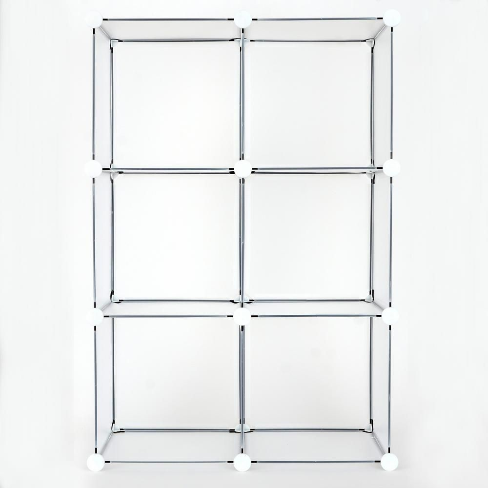 Achim 24 in  x 36 in  Clear Frost Stackable 6-Cube Organizer