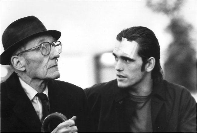 William Burroughs & Matt Dillon in Drugstore Cowboy