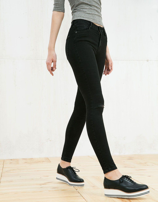 Jeans Skinny high waist - Jeans - Bershka España   Wishlist ...