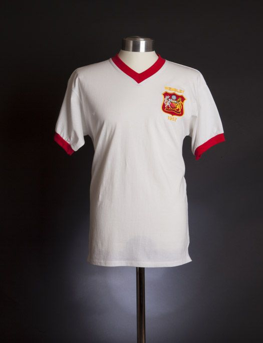 c756b8b99 Manchester United 1957 FA Cup Final shirt. 1957  Aston Villa 2 Manchester  United 1