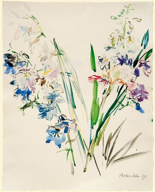 Oskar Kokoschka Avec Images Aquarelle Fleurs Art